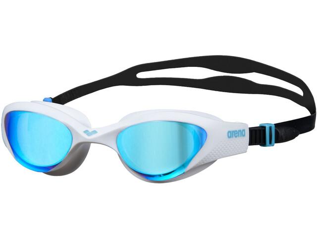 arena The One Mirror Swimglasses blue/white/black